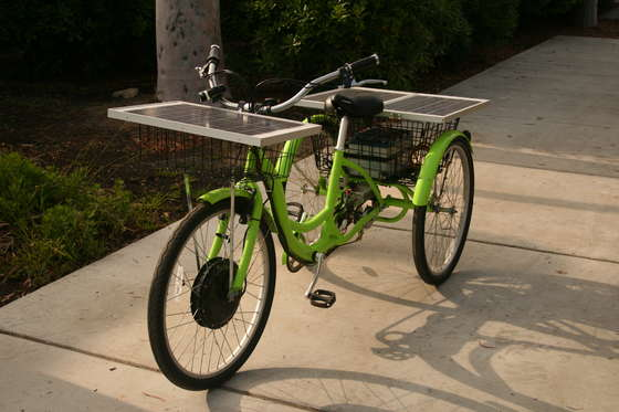 велосипед с солнечным двигателем