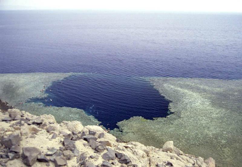 голубая дыра в Египте