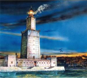 Александрийский маяк (рисунок художника)
