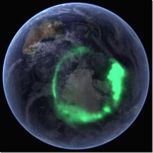 полярное сияние Земли