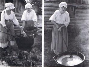Процесс мыловарения на селе (инсталяция)