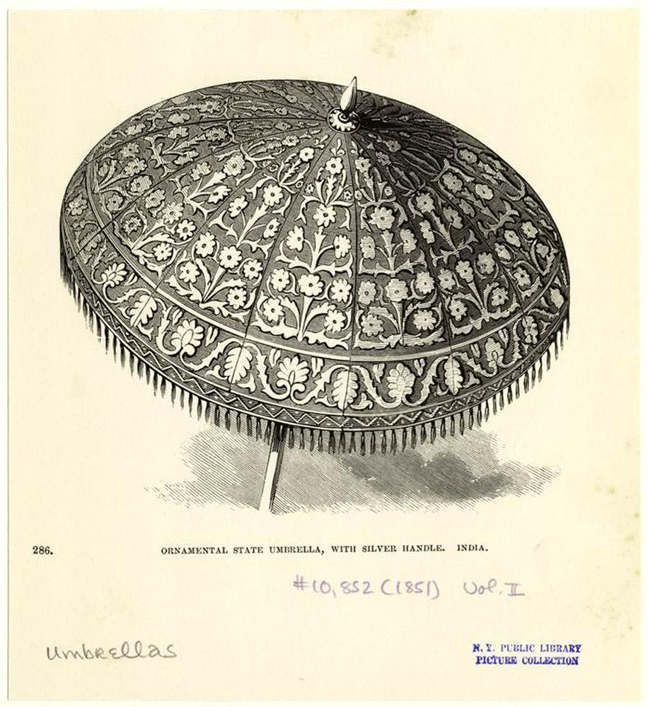 старинный индийский зонт