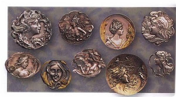 Серебрянные пуговицы Англия и Франция 1900год